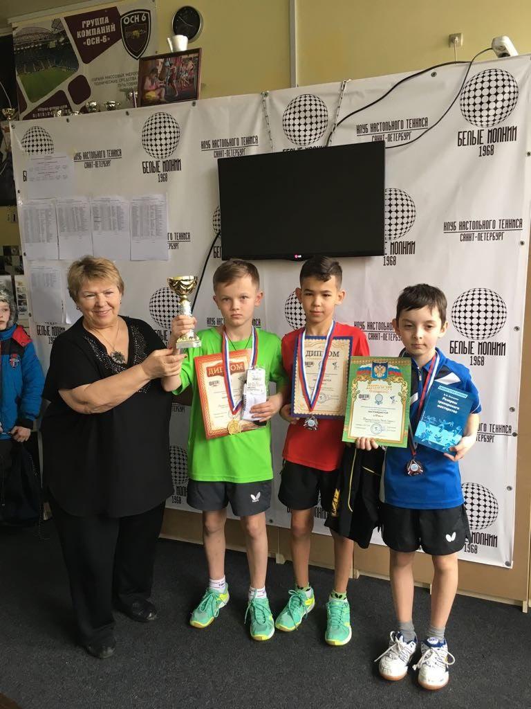 Коломенские спортсмены привезли медали с XIII Всероссийского фестиваля по настольному теннису