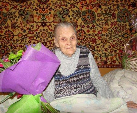 Денис Лебедев поздравил коломчанку с 95-летним юбилеем