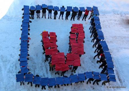 В Коломне прошел молодежный флешмоб в поддержку выборов