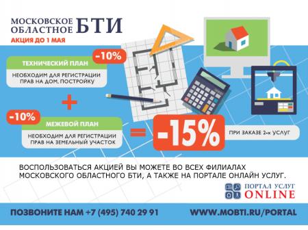 Московское областное БТИ проводит акцию по снижению стоимости кадастровых работ