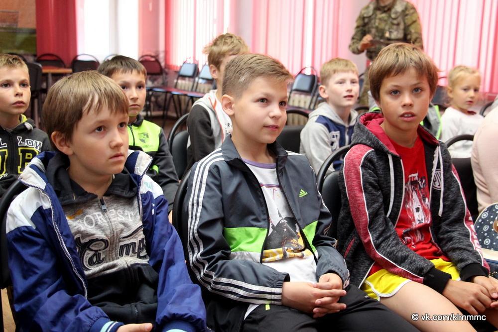 Отряд «Суворов» провел «Урок мужества» для юных коломенских спортсменов
