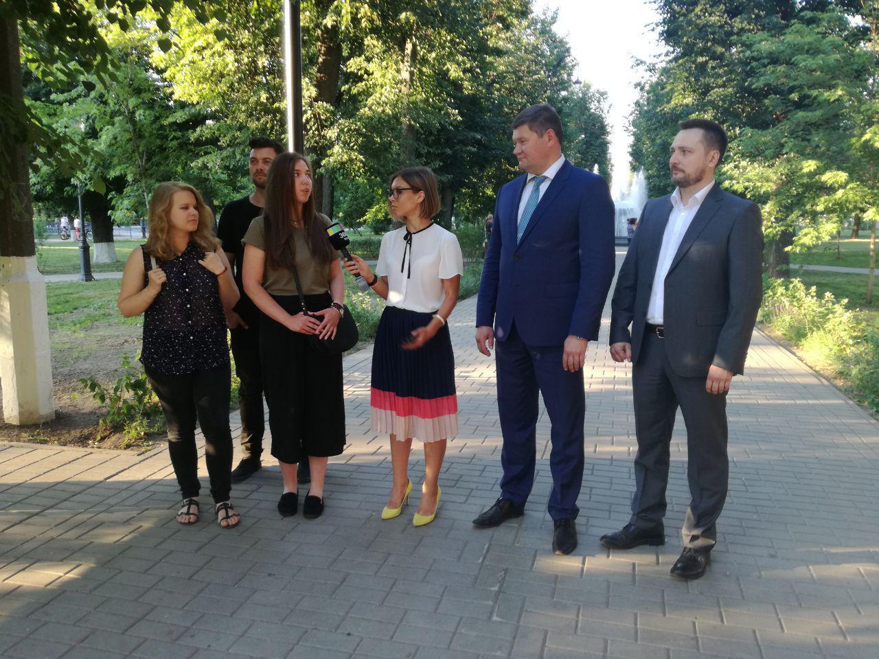 Денис Лебедев доложил губернатору о результатах работы по благоустройству