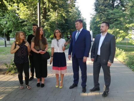 Денис Лебедев доложил губернатору о результатах работы по благоустройству.