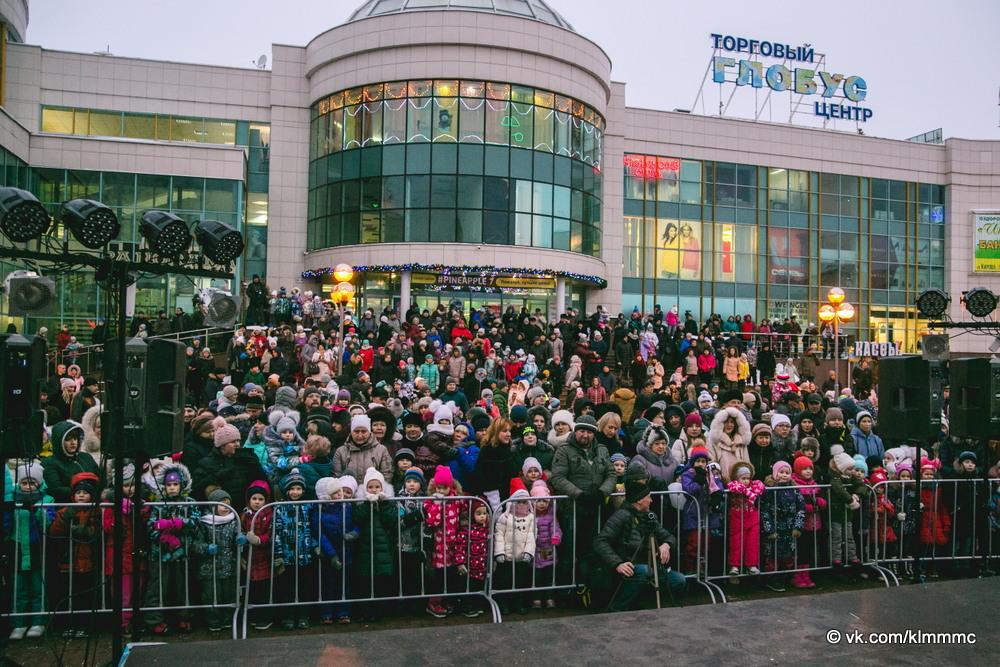 Новости Коломны   В Коломне зажгли огни на главной елке города Фото (Коломна)   iz zhizni kolomnyi