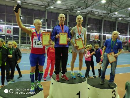 Спортсмен из Коломны завоевал медали в матче сборных команд ветеранов лёгкой атлетики России