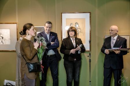 Юбилейная выставка Василия Бека открылась в Академии Сергея Андрияки