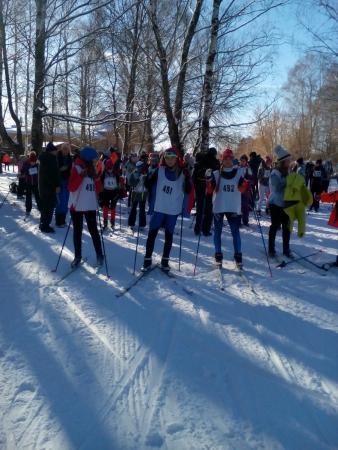 Прошли соревнования школьников «Быстрая лыжня»