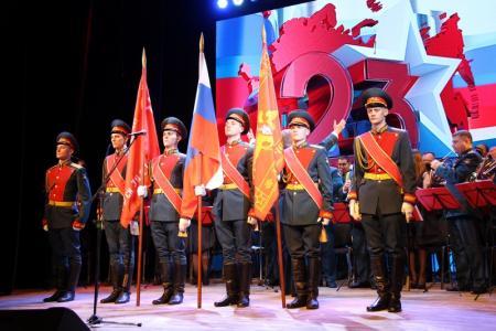 Ко Дню защитника Отечества в Коломне прошел праздничный концерт