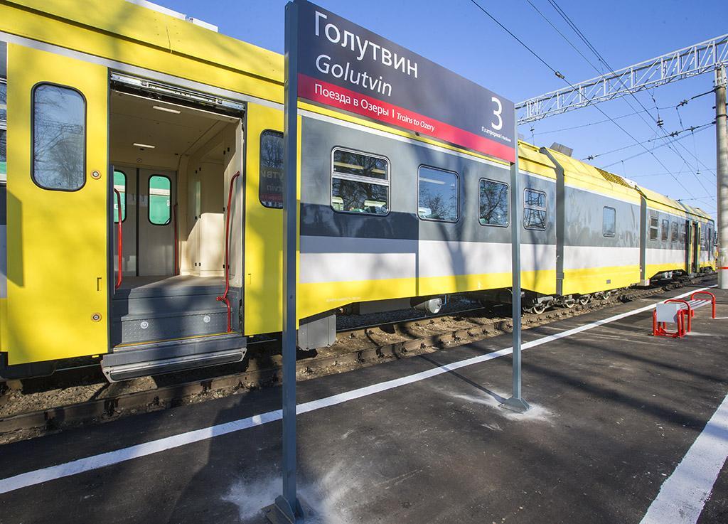 Дизель-поезд Голутвин – Озеры курсирует в штатном режиме