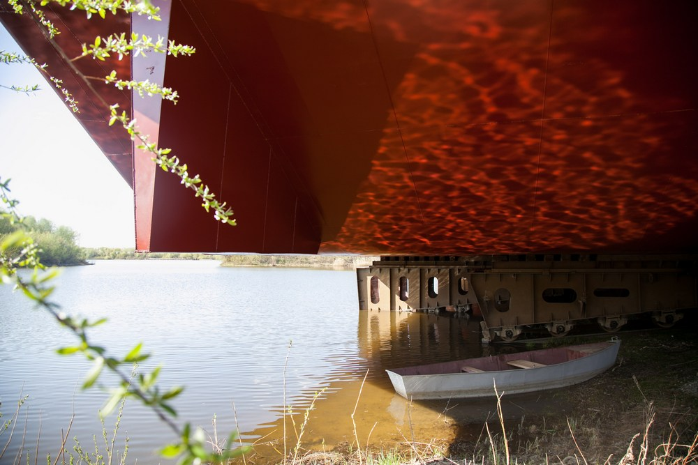 Новости Коломны   В Коломне спустили на воду баржу для «Морспасслужбы» Фото (Коломна)   iz zhizni kolomnyi