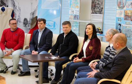 Денис Лебедев и Екатерина Лобышева провели встречу с коломенскими спортсменами