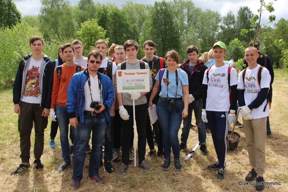 Коломенский «Лес Победы» пополнился новыми саженцами