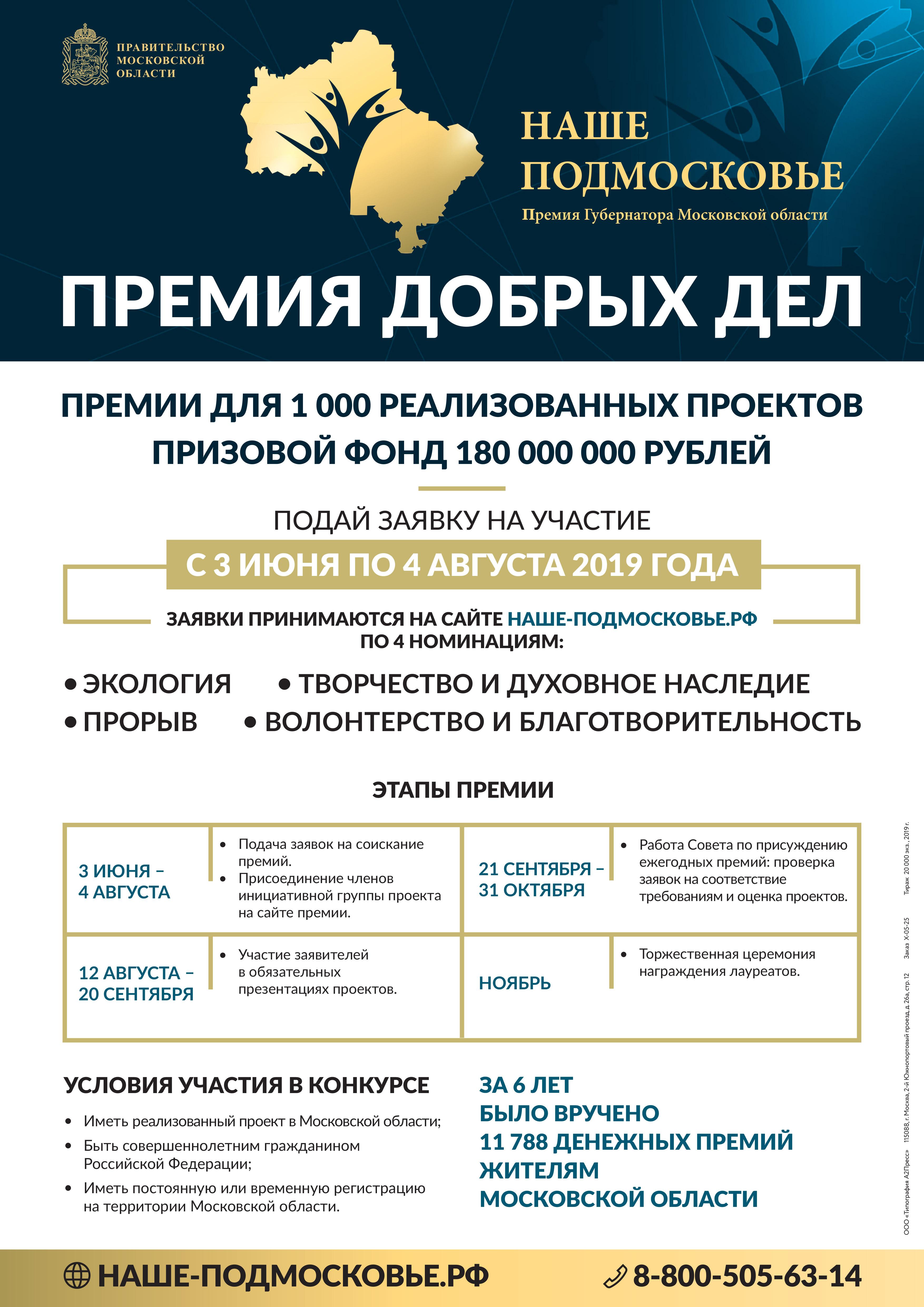 Новости Коломны   3 июня начнётся приём заявок на соискание премии «Наше Подмосковье» Фото (Коломна)   iz zhizni kolomnyi