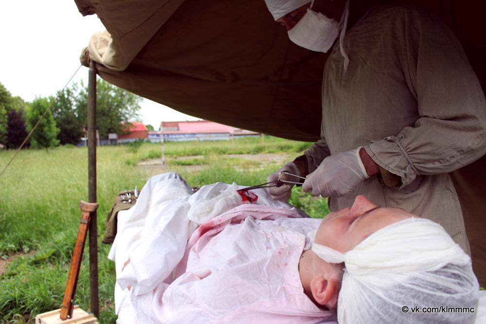Новости Коломны   В сквере на улице Гражданской работал медико санитарный батальон Фото (Коломна)   iz zhizni kolomnyi