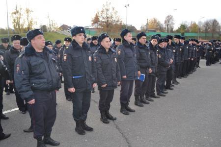 Коломенская полиция перешла на зимнюю форму одежды
