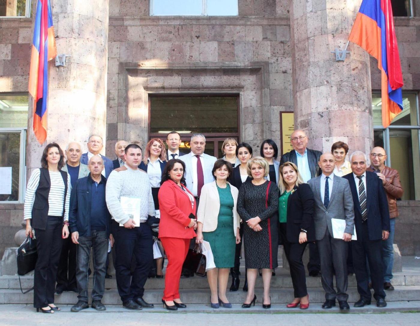 Инновационные образовательные проекты представила делегация ГСГУ в Армении