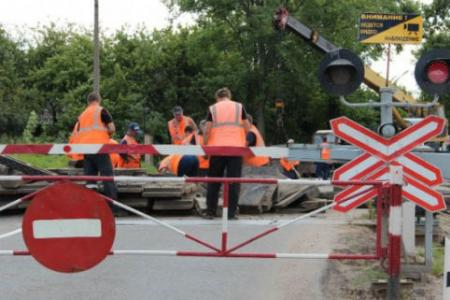 12 ноября будет ограничено движение автотранспорта через ж/д переезд в Хорошово