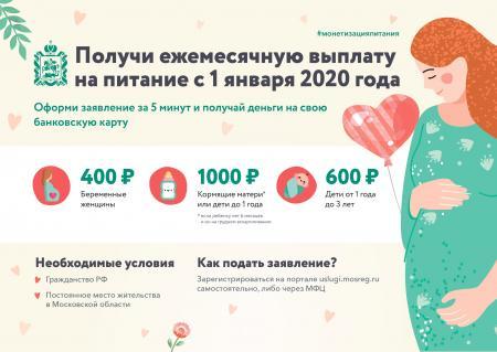 Ежемесячные денежные выплаты на питание беременным, кормящим матерям и детям до трех лет будут оформлять в электронном виде
