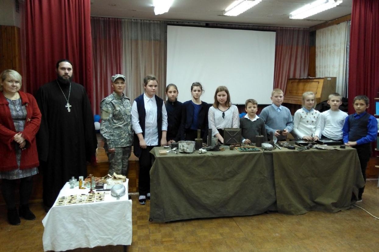 Коломенский поисковый отряд «Суворов» провел очередной «Урок мужества»
