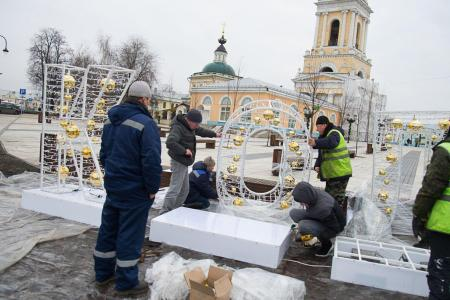Ещё один новый праздничный световой акцент появился в Коломне по желанию жителей