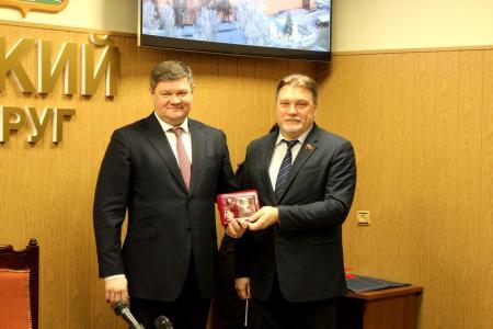 Глава Коломенского городского округа Денис Лебедев награждён юбилейной медалью