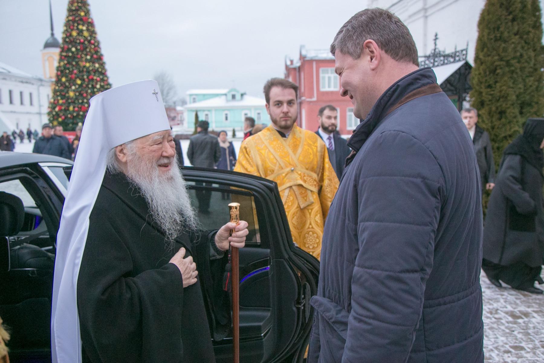 Митрополит Ювеналий возглавил празднование Рождества Христова в Коломне