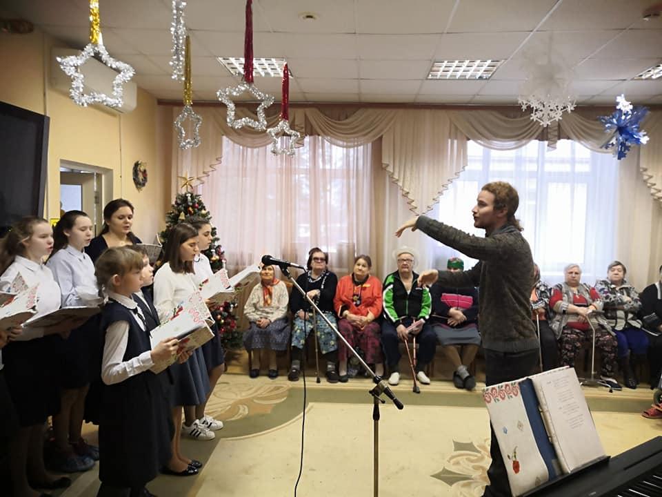 Рождественская программа прошла в коломенском доме-интернате «Ветеран»
