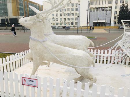 Личность виновного в поломке новогодней композиции в Коломне установлена
