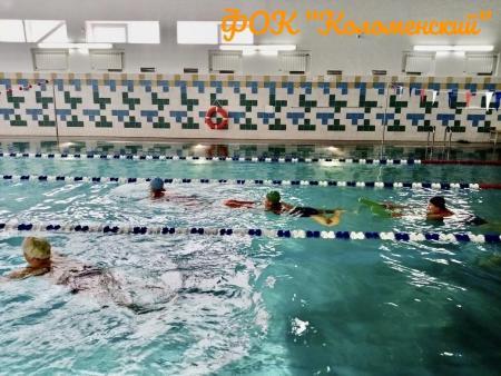 Оздоровительное плавание в рамках проекта Активное долголетие