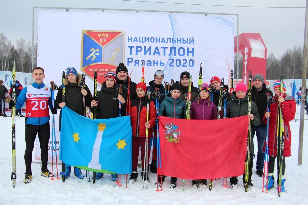 Коломенцы вышли на лыжню «Национального триатлона Рязань 2020»