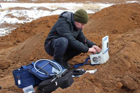 На полигоне «Воловичи» продолжаются инженерные изыскания для подготовки проекта рекультивации