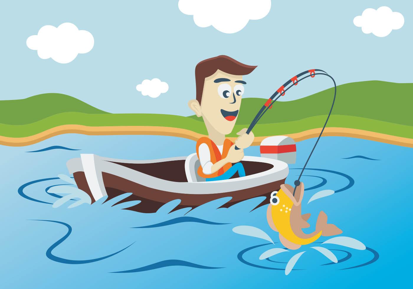рыбалка картинки мультяшные когда это