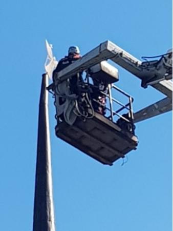 Коломенские спасатели демонтировали фигуру Трубящего ангела