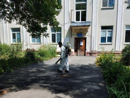 В корпусе №5 Коломенской ЦРБ провели дезинфицирующие работы