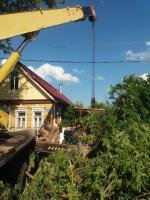 Коммунальные службы округа устраняют последствия разгула стихии
