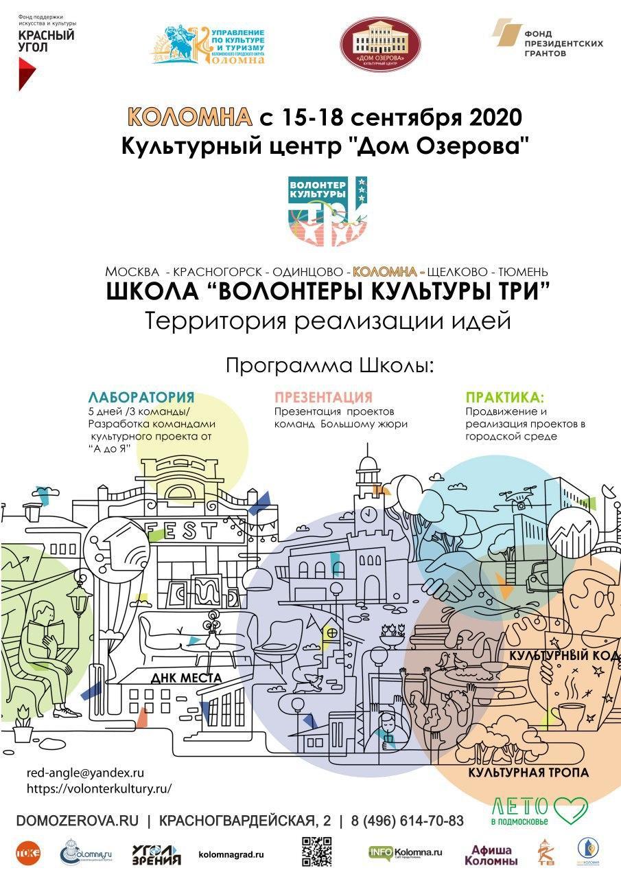 В «Доме Озерова» пройдут уроки «Школы волонтеров культуры ТРИ»