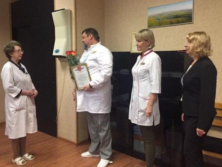 В Коломенской ЦРБ проводили на пенсию заслуженного врача-терапевта