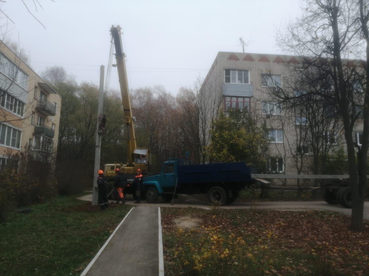 В посёлке Возрождение началась масштабная реконструкция уличного освещения