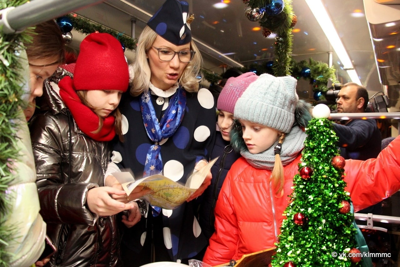 «Коломенский трамвай желаний» разработал новый маршрут ко Дню рождения Деда Мороза