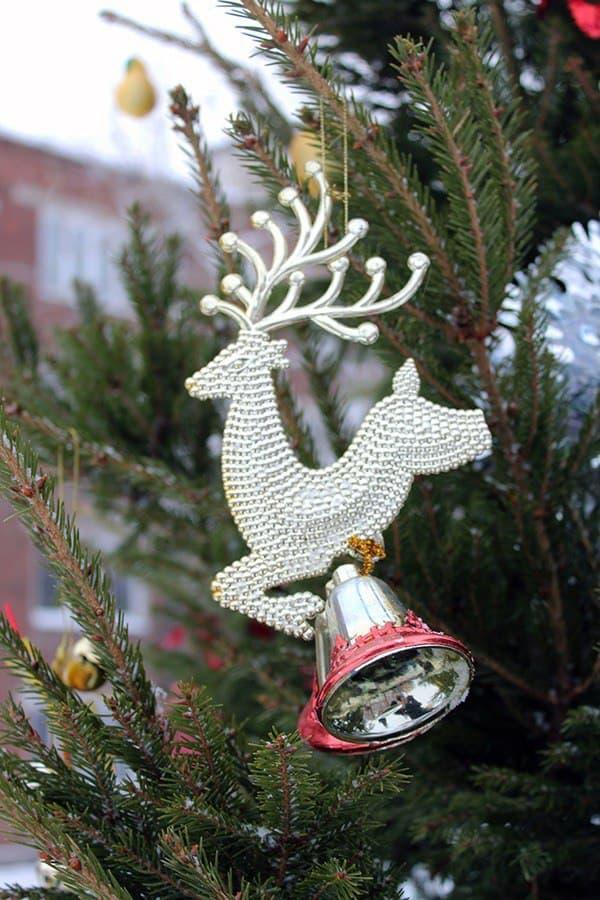 Департамент городского хозяйства установит во дворах новогодние ели