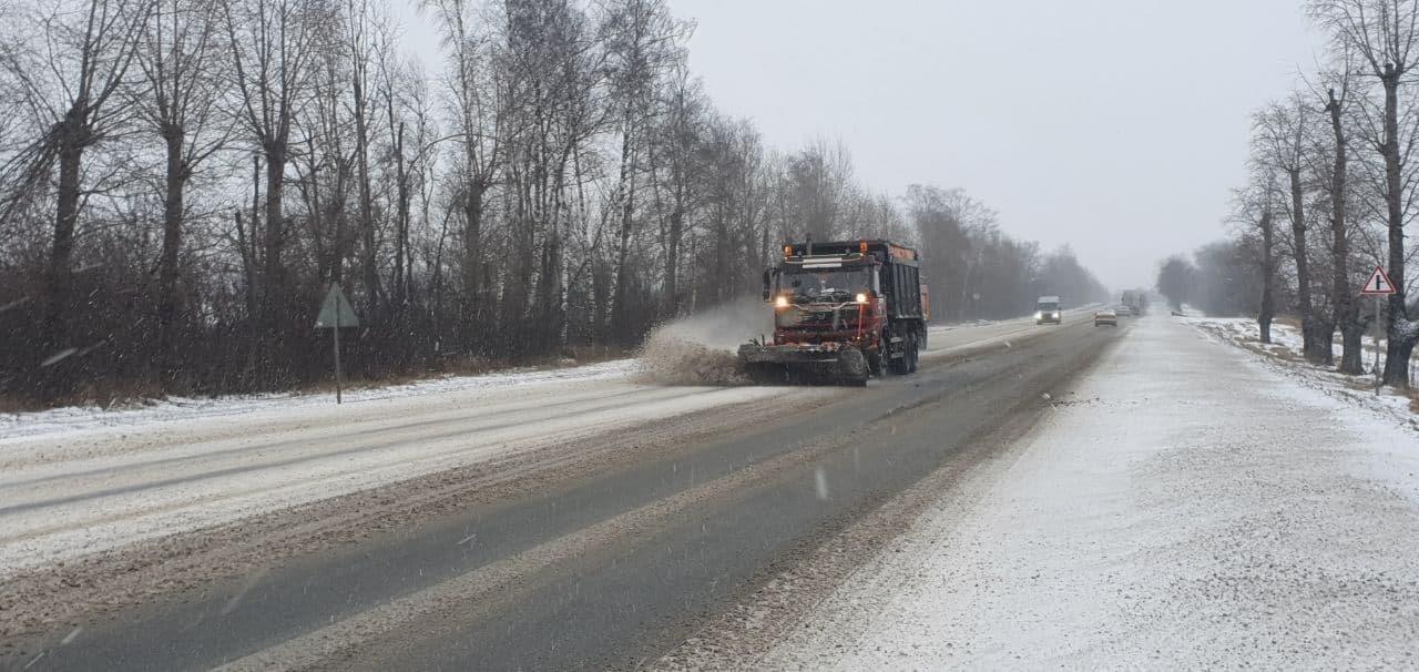 В Коломне ликвидируют последствия снегопада