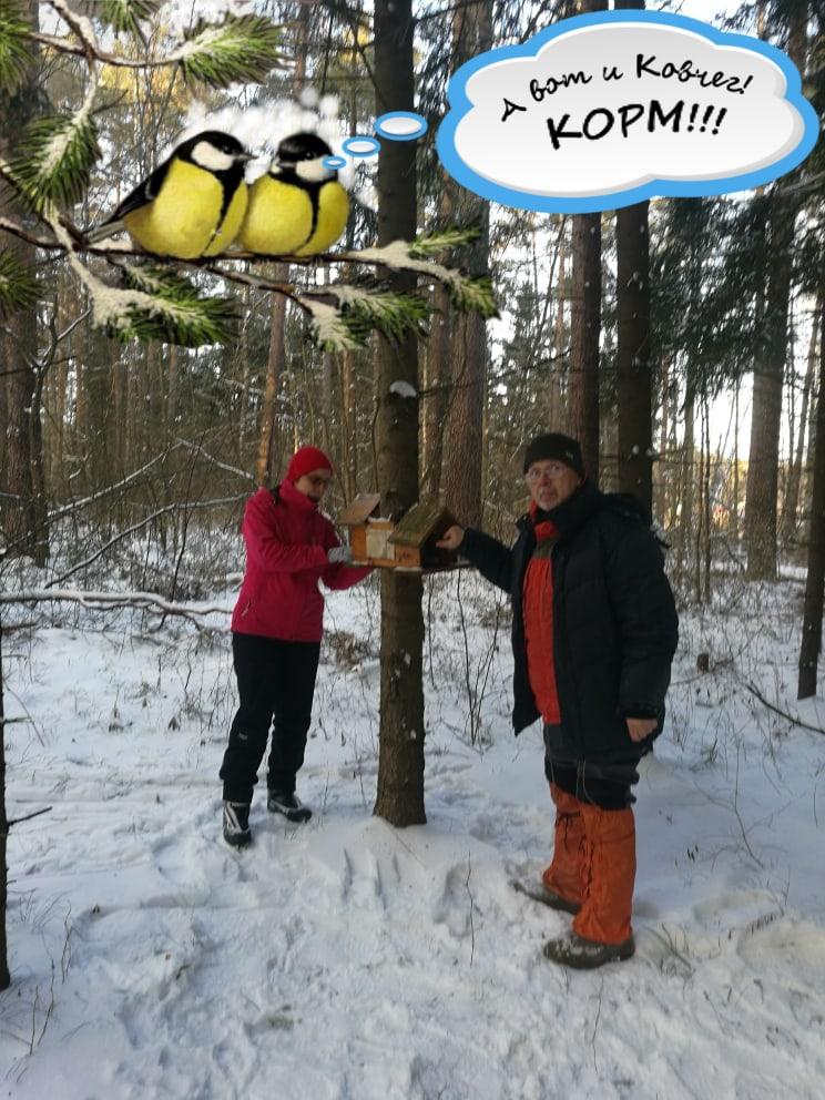 Коломенцы участвуют в акции «Покормите птиц зимой»
