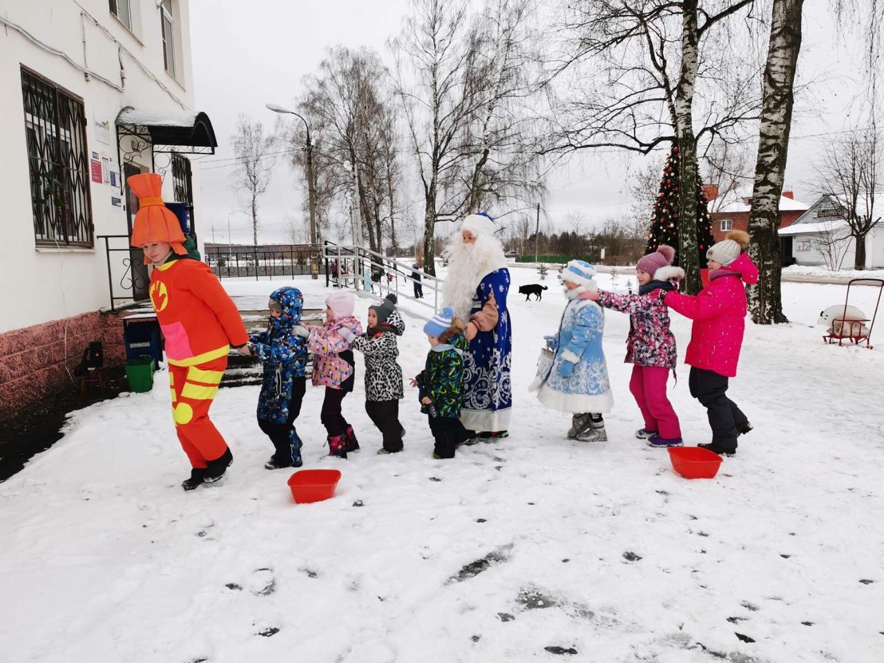 В коломенских дворах и скверах продолжаются новогодние представления