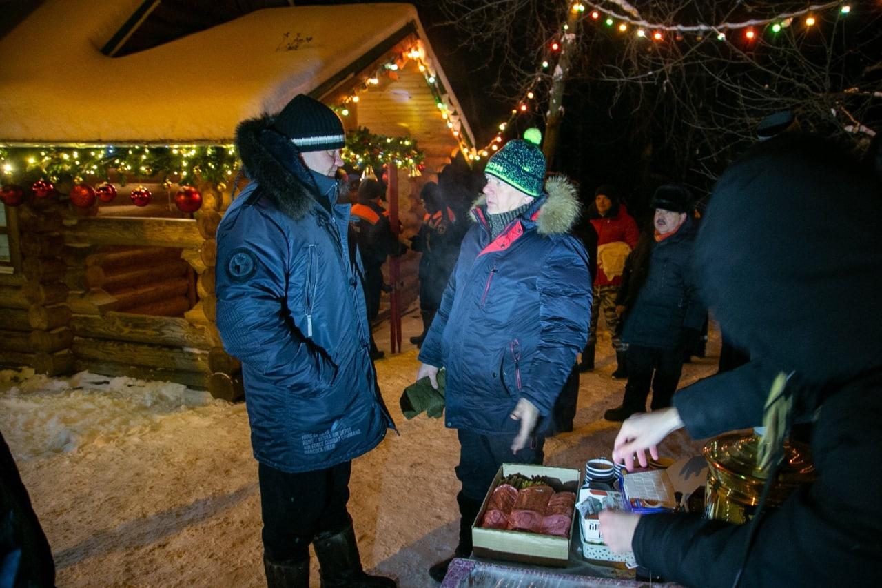Денис Лебедев проверил организацию крещенских купаний