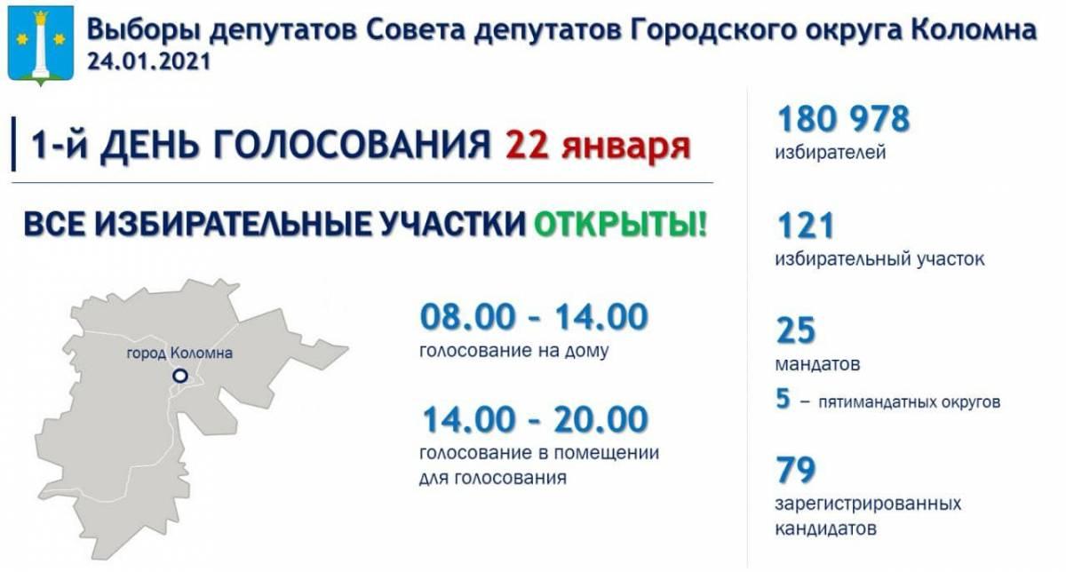 Жители Коломны выбирают совет депутатов округа