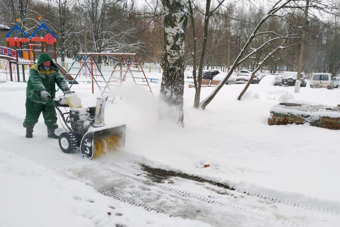 В Коломне ликвидируют последствия самого сильного снегопада этой зимы