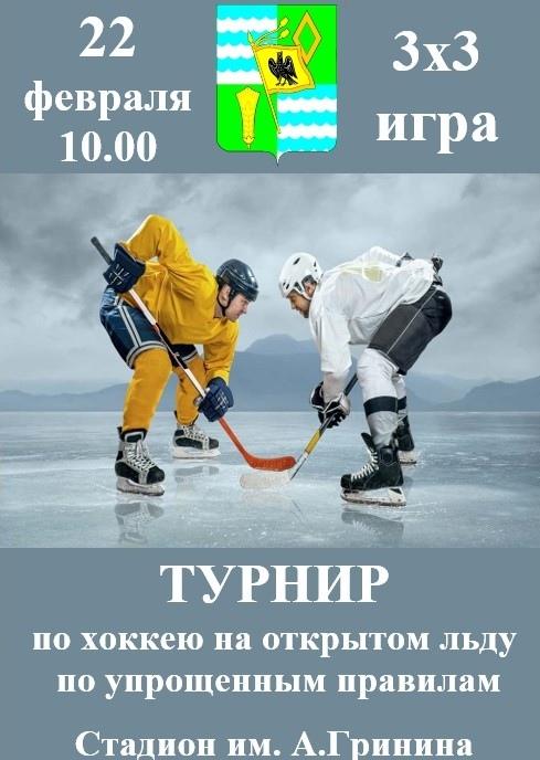 В Озёрах проведут турнир по хоккею на открытом льду по упрощенным правилам