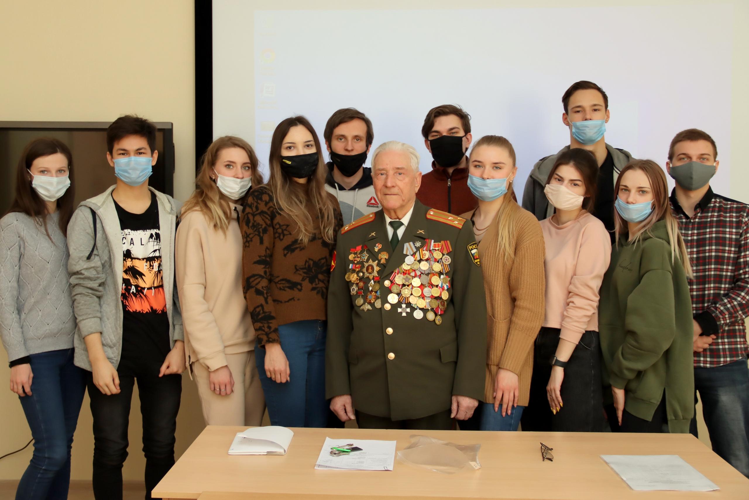 В Коломенском вузе провели традиционные «уроки мужества»