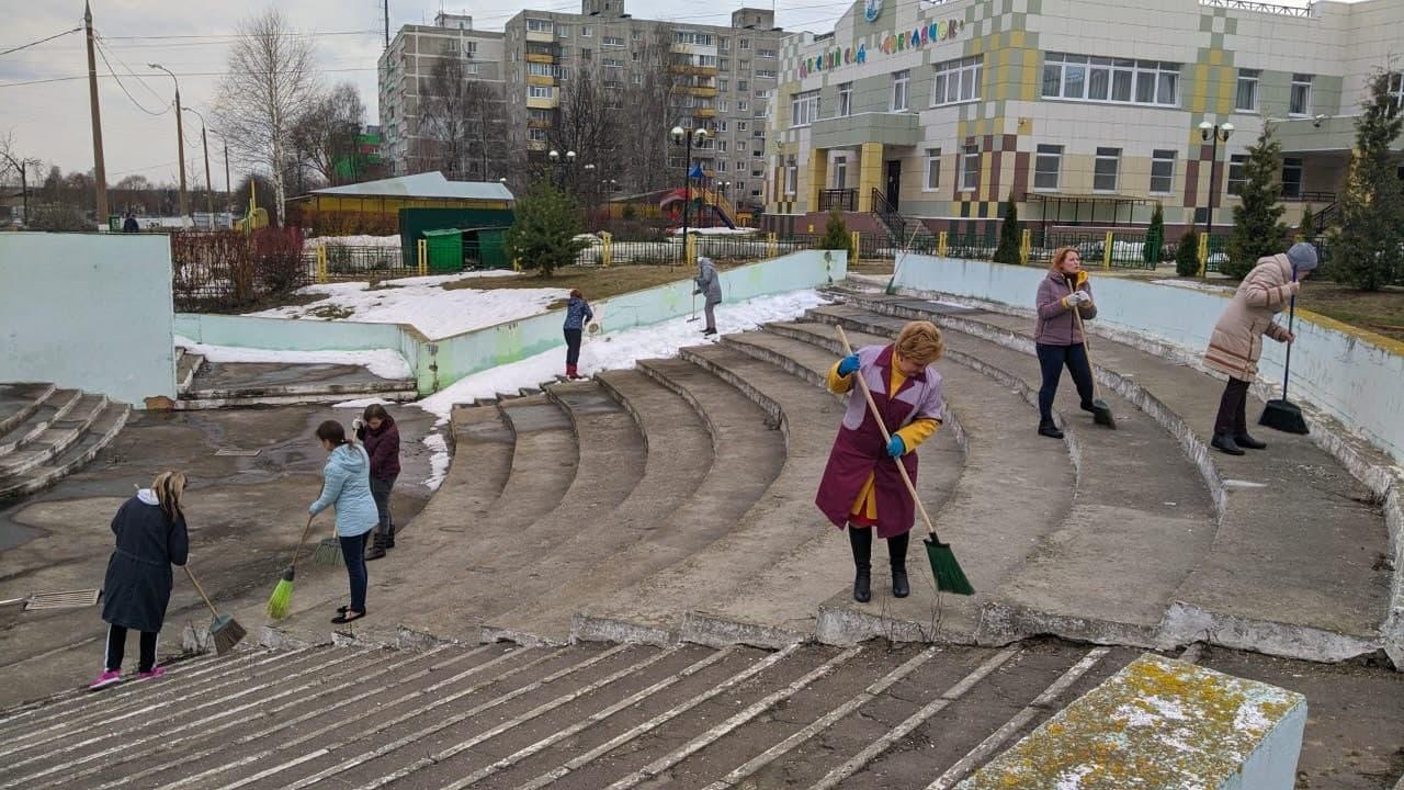 В Городском округе Коломна продолжается месячник благоустройства