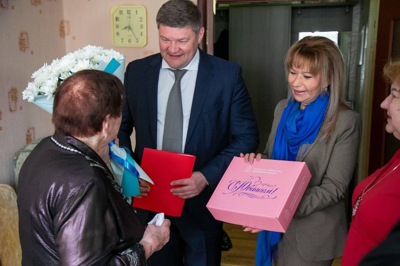 Глава округа поздравил труженицу тыла с 95-летним юбилеем